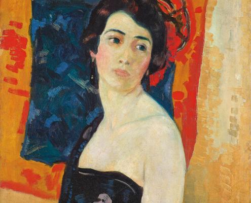 Randolph S. Hewton, « Carmencita », 1922 ou avant, huile sur toile. Collection particulière. Photo Craig Boyko