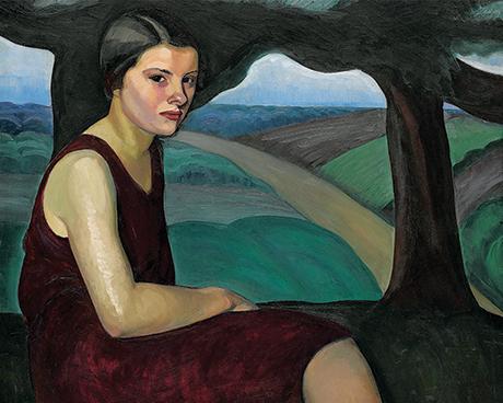 Prudence Heward, Femme sur une colline, 1928, huile sur toile. Ottawa, Musée des beaux-arts du Canada. Photo © MBAC.