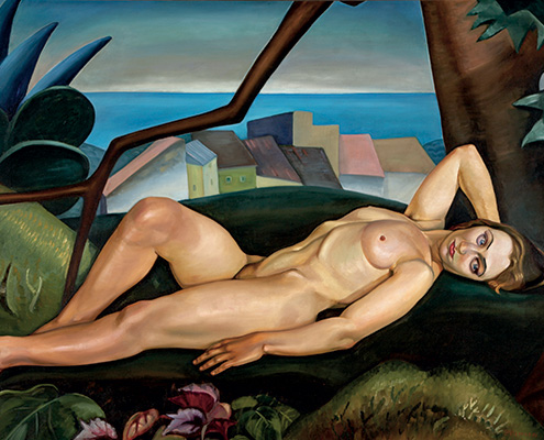 Prudence Heward, Jeune femme sous un arbre, 1931, huile sur toile. Art Gallery of Hamilton. Gift of the artist's family.