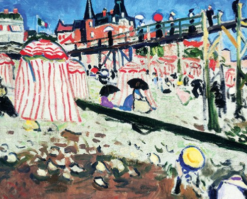 Albert Marquet, The Beach at Sainte-Adresse, 1906, oil on canvas. Private collection. © Succession Albert Marquet / SODRAC (2014)