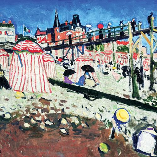 Albert Marquet, La Plage de Sainte-Adresse, 1906, huile sur toile. Collection particulière