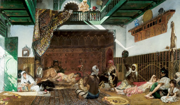 Interior of a Harem in Morocco