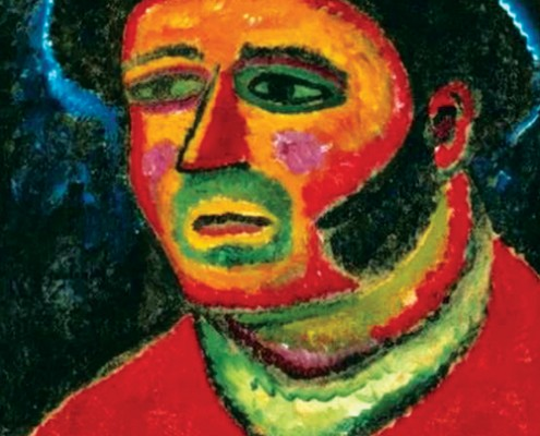 Alexei Jawlensky, Italian (Breton Peasant), 1912, oil on canvas. Cologne, private collection