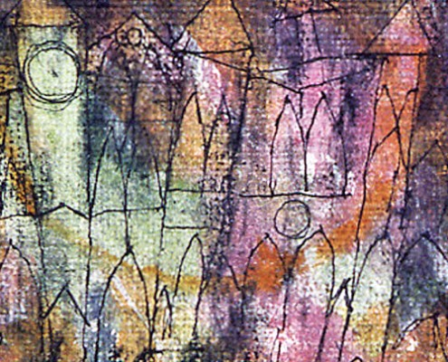 Paul Klee, The Castle, 1913, charcoal, pen and watercolor. Private collection