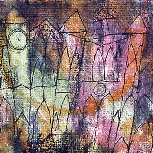 Paul Klee, Le Château, 1913, fusain, plume et aquarelle. Collection particulière