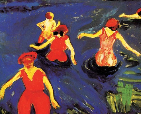 Max Pechstein, Bathers, 1911, oil on canvas. Virginia Museum of Fine Arts, the Ludwig and Rosy Fischer Collection, gift of the estate of Anne R. Fischer. © Succession Max Pechstein / SODRAC (2014)