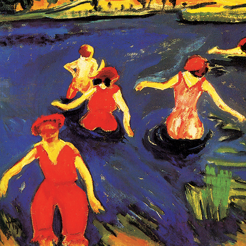 Max Pechstein, Baigneuses, 1911, huile sur toile. Virginia Museum of Fine Arts, the Ludwig and Rosy Fischer Collection, gift of the estate of Anne R. Fischer. © Succession Max Pechstein / SODRAC (2014)