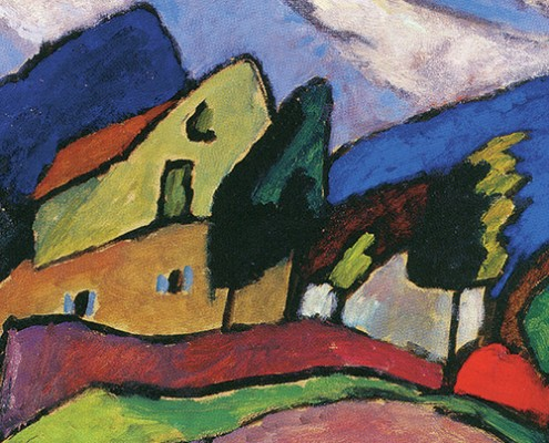 "Gabriele Münter ""Wind and Clouds"" 1910. Oil on cardboard Hanover, Germany, Sprengel Museum Hannover, 1955. © Succession Gabriele Münter / SODRAC (2014)"