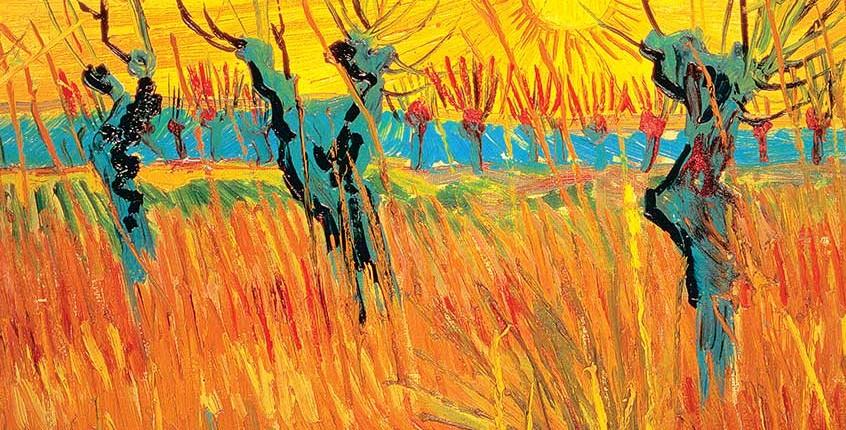 Vincent Van Gogh (1853-1890) Saules au coucher du soleil (détail), 1888, huile sur carton, 31,5 x 34,5 cm. Otterlo, Pays-Bas, Kröller-Müller Museum. Photo Art Resource, NY