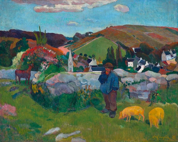 Paul Gauguin, Le Gardien de porcs (détail), 1888, huile sur toile. Los Angeles County Museum of Art, gift of Lucille Ellis Simon and family in honor of the museum's twenty-fifth anniversary