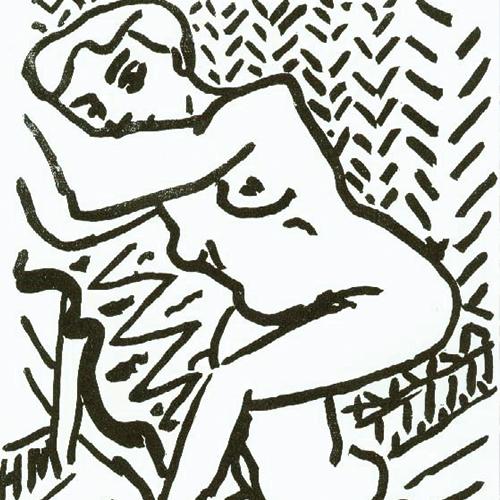 Henri Matisse, Nu assis endormi (Le grand bois), 1906, gravure sur bois. Baltimore Museum of Art