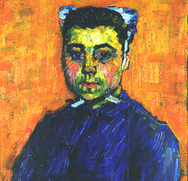 Alexei Jawlensky, Portrait de Marie Castel (recto), 1906, huile sur toile. Michigan, Flint Institute of Arts