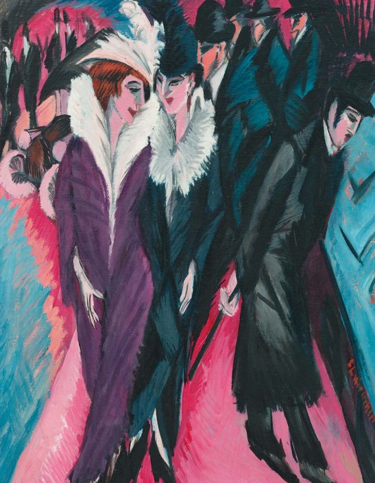 Ernst Ludwig Kirchner, Rue à Berlin, 1913, huile sur toile. New York, The Museum of Modern Art Photo © Ernst Ludwig Kirchner, avec l'aimable concours d'Ingeborg et du Dr. Wolfgang Henze-Ketterer, Wichtrach/Berne. Image © The Museum of Modern Art/Licensed by SCALA / Art Resource, NY