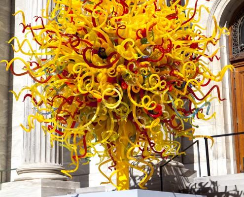 Dale Chihuly, Le soleil (détail), 2008