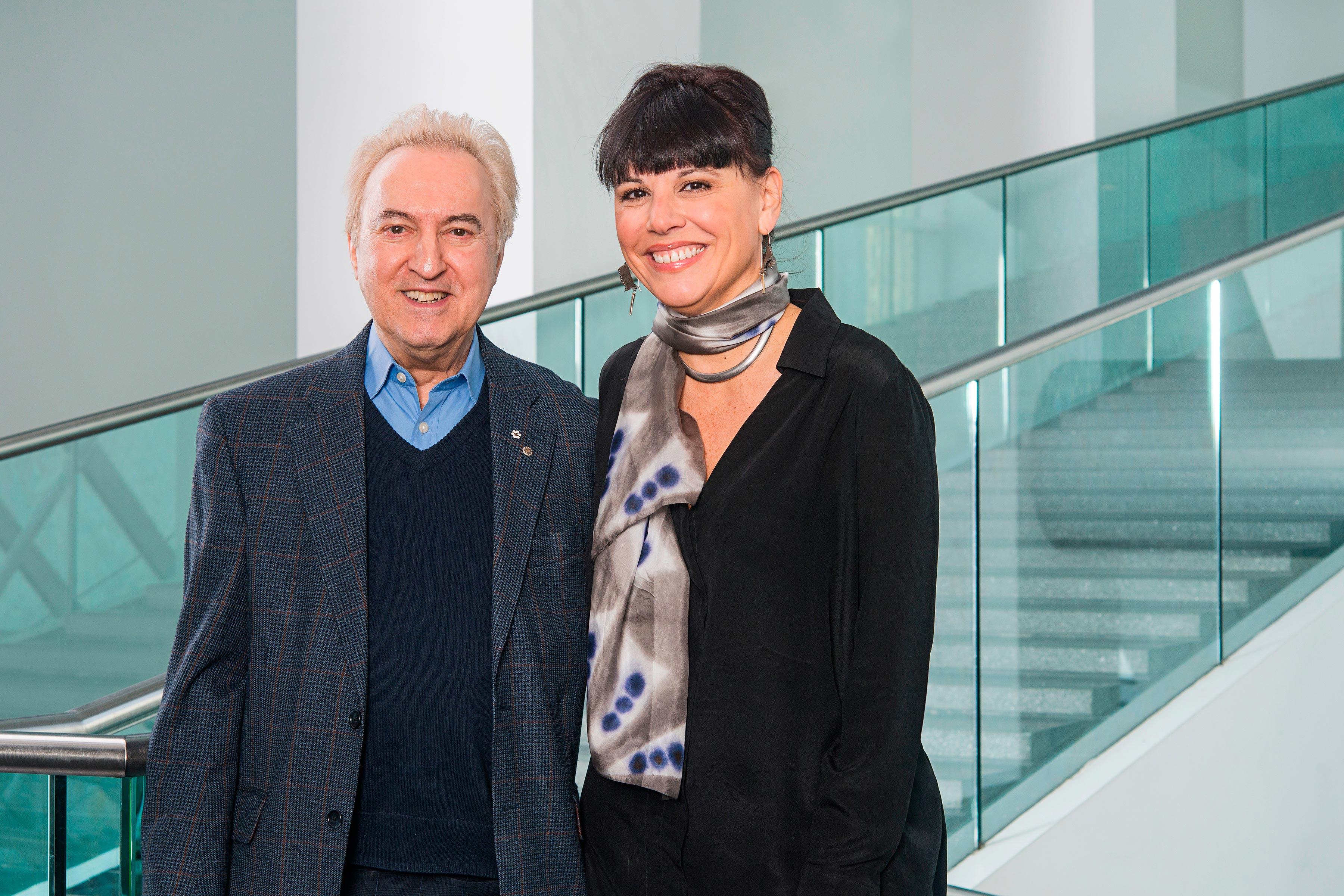 René Rozon et Nathalie Bondil. Photo - Jean François Brière