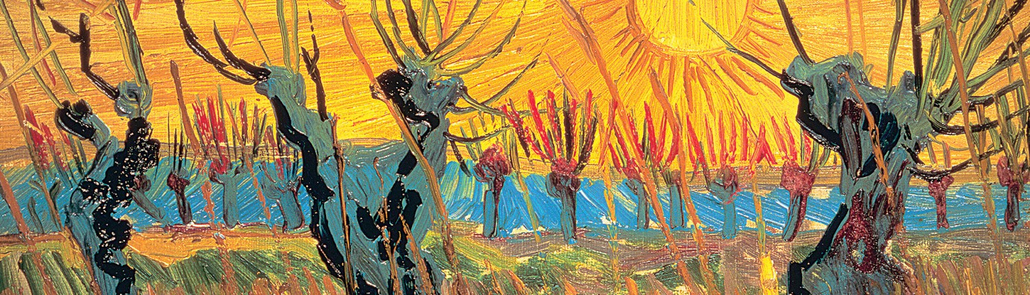 Vincent van Gogh, Pollard Willows at Sunset (detail), 1888. Otterlo, The Netherlands, Kröller‑Müller Museum. Photo Art Resource, NY