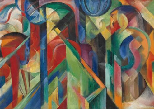 "Franz Marc, ""Stables"", 1913"