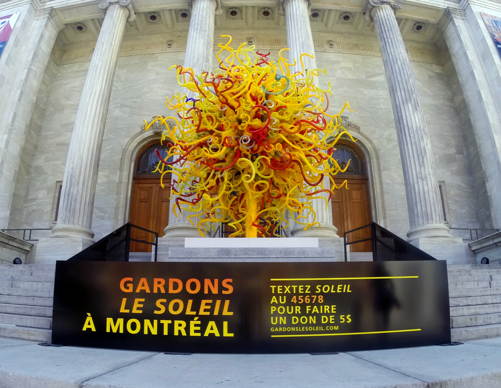 Dale Chihuly, Le soleil, 2008