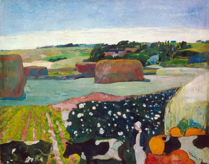Paul Gauguin, Les Meules (Le Champ de pommes de terre) (détail), 1890, huile sur toile. Washington, DC, National Gallery of Art, gift of the W. Averell Harriman Foundation in memory of Marie N. Harriman