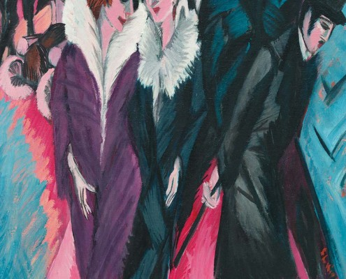 Ernst Ludwig Kirchner, Dance Hall Bellevue (previously known as Houses in Dresden), 1909–10, oil on canvas. Washington, DC, National Gallery of Art, Ruth and Jacob Kainen Collection, gift in honor of the 50th anniversary of the National Gallery of Art