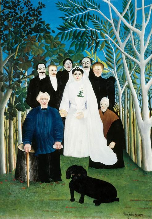 Henri Rousseau. «La Noce»1904-1905 Huile sur toile Paris, musée de l'Orangerie