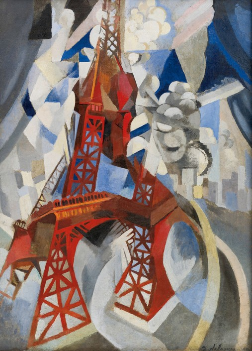 Robert Delaunay, Red Eiffel Tower (detail), 1911–12, oil on canvas. New York, Solomon R. Guggenheim Museum, Solomon R. Guggenheim Museum Founding Collection. Photo The Solomon R. Guggenheim Foundation / Art Resource, NY