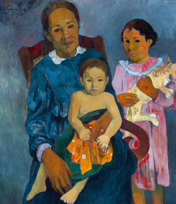 Paul Gauguin, Femme et deux enfants (détail), 1901, huile sur toile. Art Institute of Chicago, Helen Birch Bartlett Memorial Collection