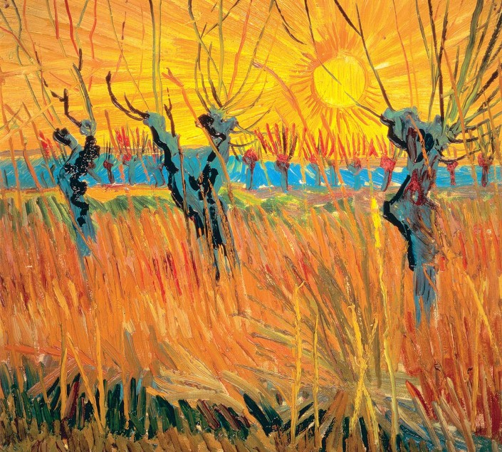 Vincent van Gogh, Saules au coucher du soleil (détail), 1888. Otterlo (Pays-Bas), Kröller‑Müller Museum. Photo Art Resource, NY