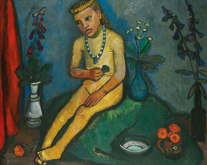 Paula Modersohn-Becker, Girl with Flower Vases (detail), about 1907, oil on canvas. Von der Heydt-Museum Wuppertal