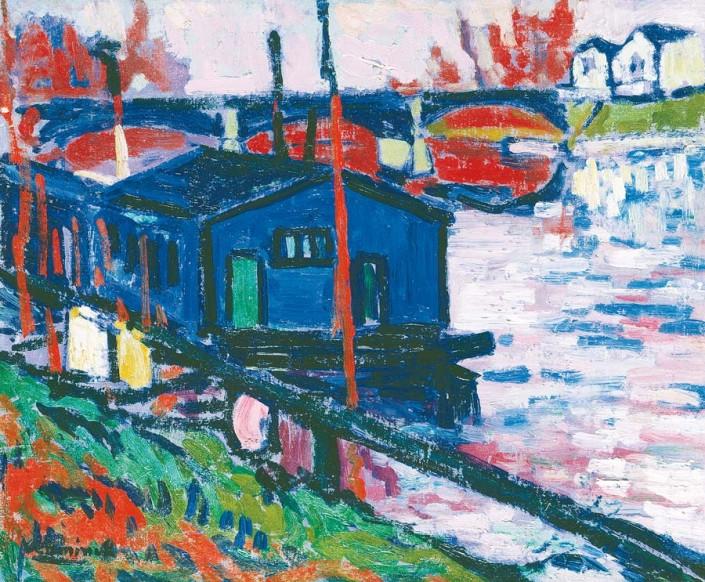 Maurice de Vlaminck, La Seine et Le Pecq (détail), 1906, huile sur toile. Kunsthaus Zürich, Collection Johanna et Walter L. Wolf. © Succession Maurice de Vlaminck / SODRAC (2014)