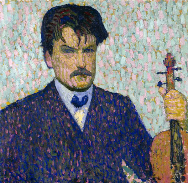 Cuno Amiet, Portrait of the Violinist Emil Wittwer-Gelpke, 1905, oil on canvas. Kunstmuseum Basel, Birmann-Fond 1975