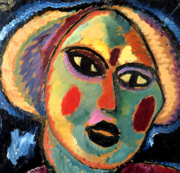 Alexei Jawlensky, Girl with Purple Blouse (detail), 1912, oil on paper laid down on canvas. Cologne, private collection
