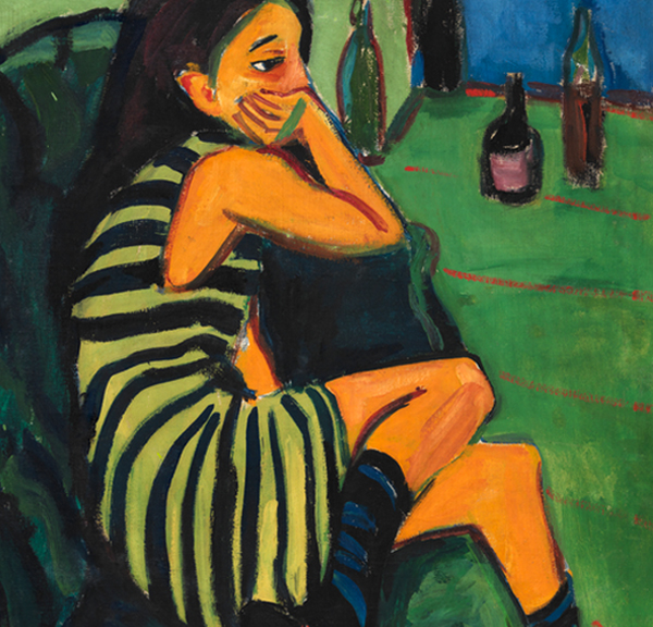 Ernst Ludwig Kirchner, Artist Marcella (detail), 1910, oil on canvas. Berlin, Brücke Museum